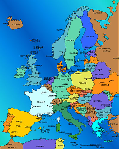 Updated Map Of Europe.Usa Plays In Europe Not Mls Updated Association Football