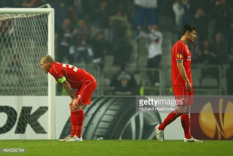 during the UEFA Europa League Round of 32 second leg match between Besiktas JK and Liverpool FC on February 26, 2015 in Istanbul, Turkey.